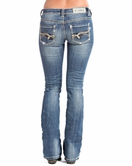Rock & Roll Cowgirl Women's Rival Low Rise Bootcut Jean-Medium Vintage (Closeout)