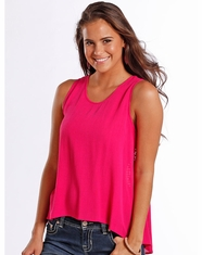 Rock & Roll Cowgirl Women's Sleeveless Lace Top - Pink