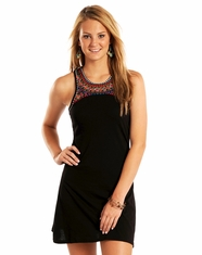 Rock & Roll Cowgirl Women's Sleeveless Racerback Dress - Black (Closeout)
