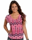 Rock & Roll Cowgirl Womens Boxy Top - Pink (Closeout)