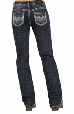 Rock & Roll Cowgirl Womens Boyfriend Boot Cut Jeans