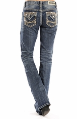 Rock & Roll Cowgirl Womens Boyfriend Fit Jeans