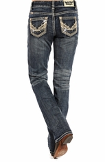 Rock & Roll Cowgirl Womens Boyfriend Fit Jeans (Closeout)