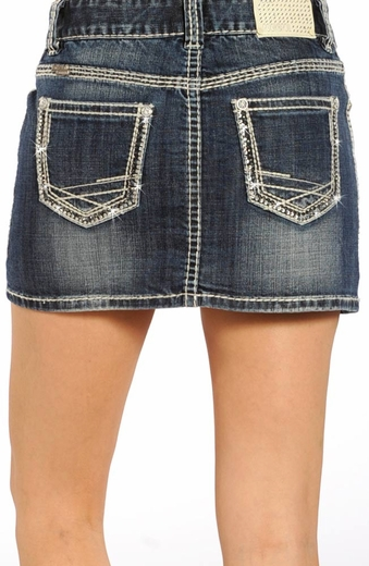 Rock & Roll Cowgirl Womens Denim Skirt