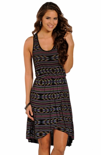 Rock & Roll Cowgirl Racerback Print Dress