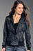 Rock & Roll Cowgirl Womens Faux Leather Jacket - Black