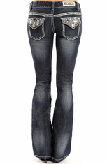 Rock & Roll Cowgirl Womens Low Rise Boot Cut Jeans
