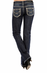 Rock & Roll Cowgirl Womens Low Rise Boot Cut Jeans - Medium Wash (Closeout)