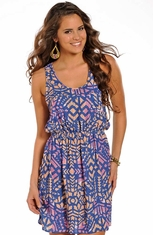 Rock & Roll Cowgirl Womens Print Dress - Multi (Closeout)