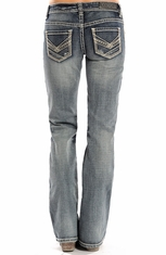 Rock & Roll Cowgirl Womens Riding Boot Cut Jeans (Closeout)