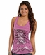 Rock & Roll Cowgirl Womens Sequin Aztec Tank Top - Purple (Closeout)