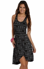 Rock & Roll Cowgirl Womens Sleeveless Print Dress (Closeout)