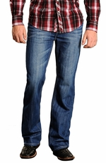 "Rock & Roll Cowboy Mens Double Barrel Jeans with ""V"" Pockets"