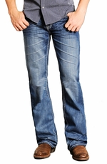 Rock & Roll Cowboy Mens Double Barrel Relaxed Fit Boot Cut Jeans