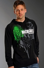 Rock & Roll Cowboy Mens Logo Hoodie - Black