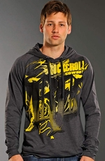Rock & Roll Cowboy Mens Logo Hoodie - Grey