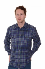 Rockmount Men's Long Sleeve Plaid Western Snap Shirt - Purple