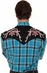 Rockmount Men's Long Sleeve Shadow Plaid Western Shirt with Embroidery