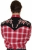 Rockmount Men's Long Sleeve Shadow Plaid Western Shirt with Embroidery (Closeout)