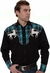 Rockmount Men's Long Sleeve Western Snap Shirt with Horse Embroidery (Closeout)