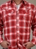 Rockmount Men's Shadow Plaid Guitar Snap Shirt - Red