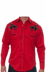 Rockmount Men's Vintage Bronc Western Snap Shirt - Red (Closeout)