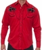 Rockmount Men's Vintage Bronc Western Snap Shirt - Red