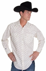 Rockmount Mens Long Sleeve Snap Western Shirt - Cards
