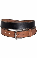 Rockmount Mens Two-Tone Western Belt - Black/Tan