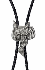 Rockmount Mens Western Bolo Tie - Saddle (Closeout)