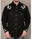 Rockmount Ranch Wear - Men's L/S Black Western Snap Shirt with Musical Note Embroidery