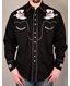 Rockmount Ranch Wear - Men's L/S Black Western Snap Shirt with Skull & Dice Embroidery