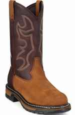 "Rocky Men's Ride Collection 11"" Branson Roper Work Boots - Aztec Brown"