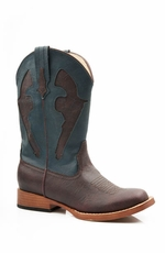 Roper Children's Pistol Boots - Brown/ Blue (Closeout)