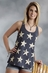 Roper Five Star Womens Vintage Star Tank - Blue