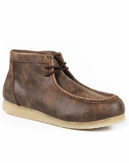 Roper Men's Gum Sole Chukka Shoes - Vintage Brown