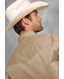 Roper Men's Long Sleeve Solid Western Snap Shirt - Khaki (Closeout)