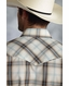 Roper Mens Long Sleeve Plaid Snap Western Shirt - Brown (Closeout)