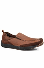 Roper Mens Slip On Casual Shoes - Brown (Closeout)