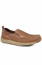Roper Mens Slip On Casual Shoes - Tan (Closeout)