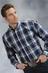 Roper Mens Long Sleeve Plaid Button Down Western Shirt - Blue (Closeout)