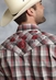 Roper Mens Long Sleeve Plaid Snap Western Shirt - Red