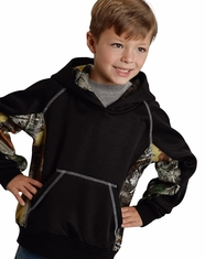 Roper Rangewear Boy's Bonded Fleece Hooded Jacket - Black (Closeout)