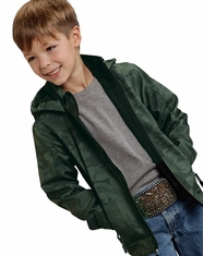 Roper Rangewear Boy's Hooded Softshell Jacket - Camo