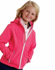 Roper Rangewear Girl's Fleece Lined Softshell Jacket - Pink