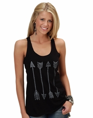 Roper Women's Arrow Sleeveless Shirt - Black (Closeout)