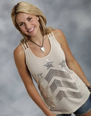 Roper Women's Chevron Tank Top - Natural (Closeout)