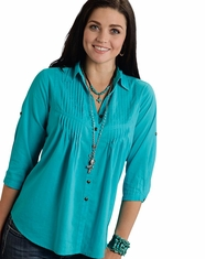 Roper Women's Five Star Solid Tunic Top - Turquoise (Closeout)