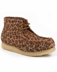 Roper Women's Gum Sole Chukka Shoes - Leopard Suede