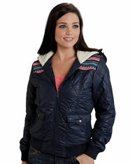 Roper Women's Quilted Shortbody Jacket - Navy